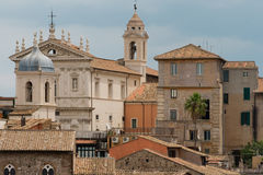Roman landscape. Traditional Roman architecture. Italy. Rome Royalty Free Stock Image