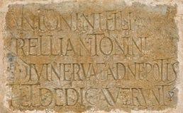 Roman Latijnse inschrijving royalty-vrije stock fotografie