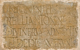 Roman latin inscription Royalty Free Stock Photography
