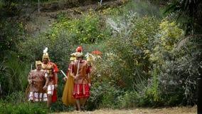 Roman legioen, theatrale vertegenwoordiging van de Hartstocht stock videobeelden
