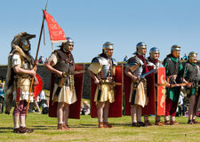 Roman legion display Royalty Free Stock Images