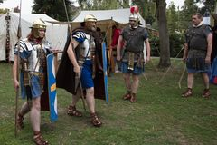 Roman Legionaires In Droitwich Spa royalty free stock images