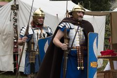 Roman Legionaires In Droitwich Spa stock photography