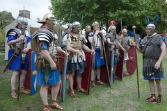 Roman Legionaires In Droitwich Spa royalty free stock photography