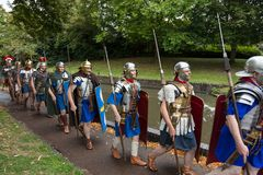 Roman Legionaires In Droitwich Spa royalty free stock image