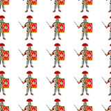Roman legionaries seamless pattern Stock Photography