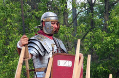 Roman legionaries. Who took part in the festival times and ages, which was held in Moscow, the era of the Roman Empire (Moscow 06.06.2015 - Festival time and stock photos