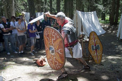 Roman legionary fights Stock Image