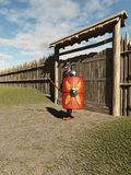 Roman Legionary Fort Guard Royalty-vrije Stock Foto's