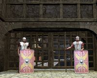 Roman Legionary Gate Guards Royalty Free Stock Photos