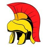 Roman legionary helmet icon cartoon Stock Photography