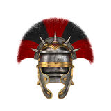 Roman legionary helmet on an isolated white background. 3d illustration Stock Photography