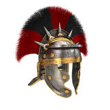 Roman legionary helmet on an isolated white background. 3d illustration Royalty Free Stock Photos