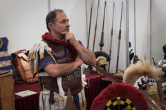 Roman legionary at Militalia 2013 in Milan, Italy Stock Image