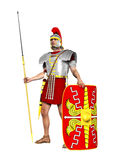 Roman Legionary. Render of a Roman legionary soldier isolated on white royalty free illustration
