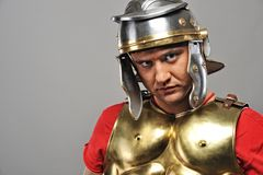 Roman legionary soldier. Portrait of a roman legionary soldier Royalty Free Stock Photography