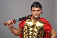 Roman legionary soldier. Picture of a Handsome roman legionary soldier Royalty Free Stock Images