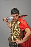 Roman legionary soldier. Picture of a Handsome roman legionary soldier Stock Photo