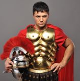 Roman legionary soldier. Portrait of a roman legionary soldier Royalty Free Stock Photo