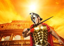 Roman legionary soldier Stock Photography