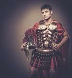 Roman legionary soldier. In amour Royalty Free Stock Image