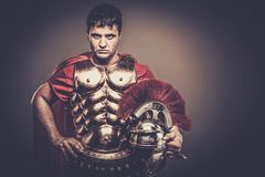 Roman legionary soldier. In amour Royalty Free Stock Images