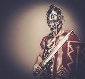 Roman legionary soldier. Legionary soldier ready for a war Royalty Free Stock Photography