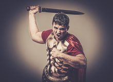 Roman legionary soldier Stock Image