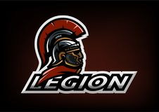 Roman Legionnaire logo on a dark background. Vector illustration Stock Image