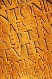 Roman letters texture Stock Photography