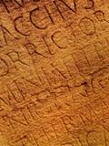 Roman letters texture Stock Image