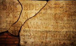 Roman letters texture Royalty Free Stock Photography