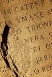 Roman letters texture Stock Photo