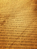 Roman letters texture. Picture of a Roman letters texture Stock Photography