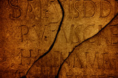 Roman letters texture Royalty Free Stock Photos
