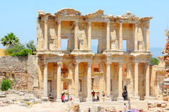Roman Library of Celsus Stock Photography