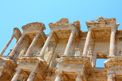 Roman Library of Celsus. In an antique city the Ephesus Stock Images
