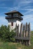 Roman Limes Watch Tower nära Idstein-Dasbach, Hessen, Tyskland arkivbilder