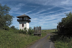 Roman Limes Watch Tower near Idstein-Dasbach, Hesse, Germany.  stock photo