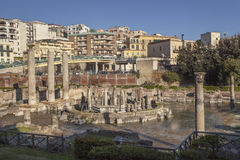 Roman macellum in Pozzuoli. POZZUOLI, ITALY - APRIL 16, 2014: Ruins of ancient Macellum building, erroneously identified as a Serapeum Stock Photo