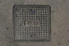 Roman manhole Royalty Free Stock Images