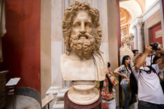Roman marble bust of Zeus Royalty Free Stock Image