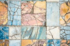Roman marble floor background. Colorful ancient roman marble floor, weathered and broken, heritage of italian history. Beautiful background and texture, vintage stock images