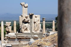 Roman Marble Ruins in Ephesus - Turkey Stock Photo