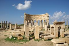 Roman market, Libya Stock Photos