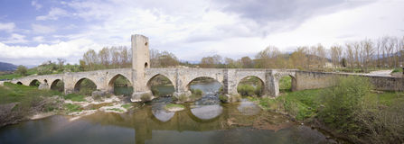 Roman-medieval bridge Stock Photos