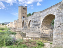 Roman-Medieval bridge Royalty Free Stock Image