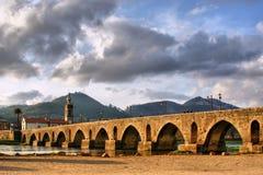 Roman and medieval bridge of Ponte de Lima Stock Images