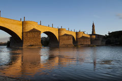 Roman-medieval bridge (Spain) Royalty Free Stock Photos