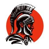 Roman militair of Gladiator binnen cirkel Vector illustratie Stock Afbeelding